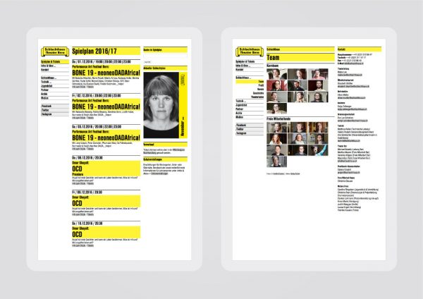 Redesign Website Schlachthaus Theater Bern
